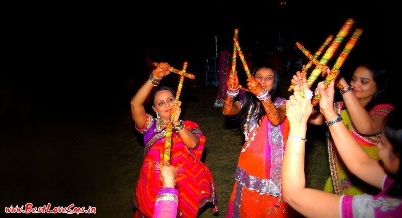 Garba Stick Dancers