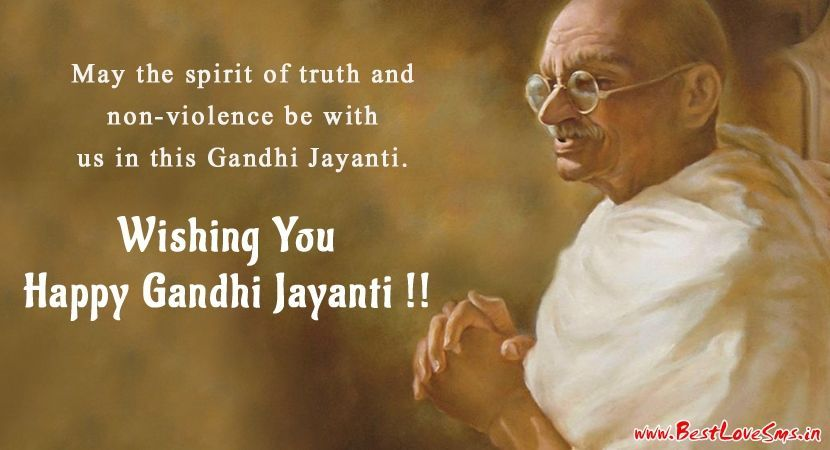 Awesome Gandhi Jayanti Wishes in English With Picture