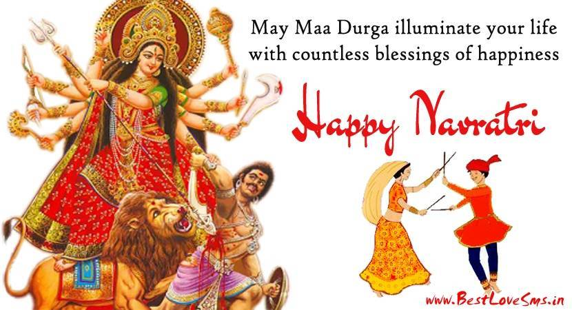 Happy navratri wishes in hindi english anymessages academy happy navratri greeting m4hsunfo