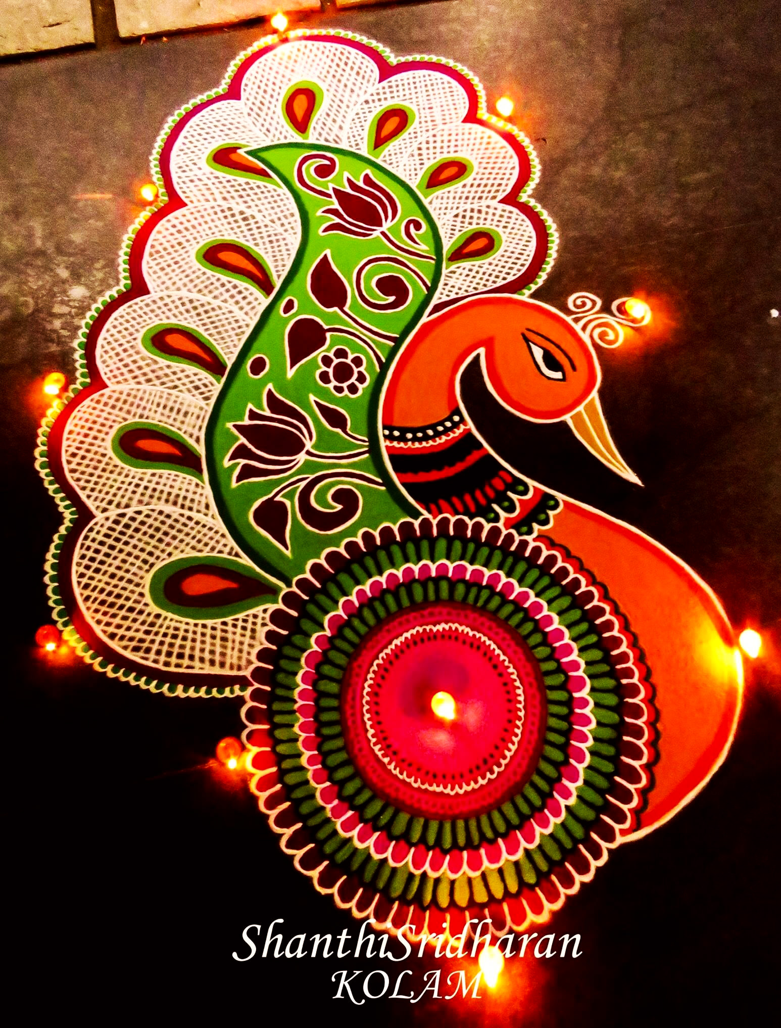 Happy New Year Rangoli Design Gallery 91