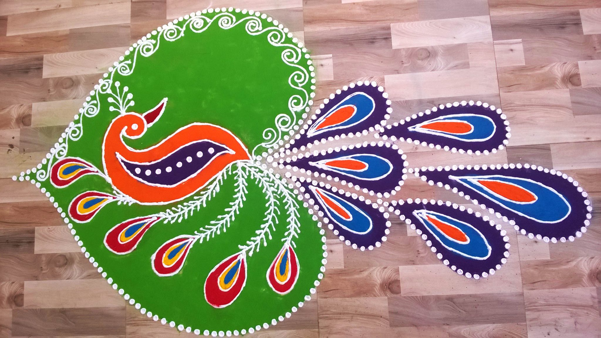 Rangoli with Peacock coloring page from Rangoli category Select from 30918 printable crafts of cartoons nature animals Bible and many more