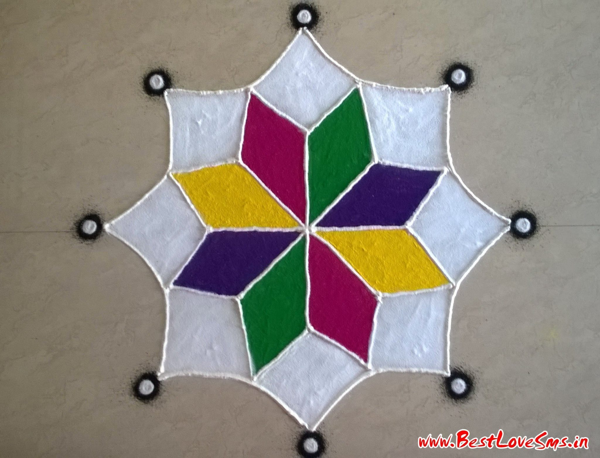 Easy Rangoli Designs For Deepavali