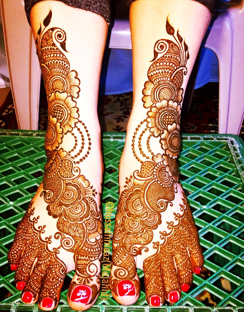 Arebic Bridal Mehndi Design For Legs