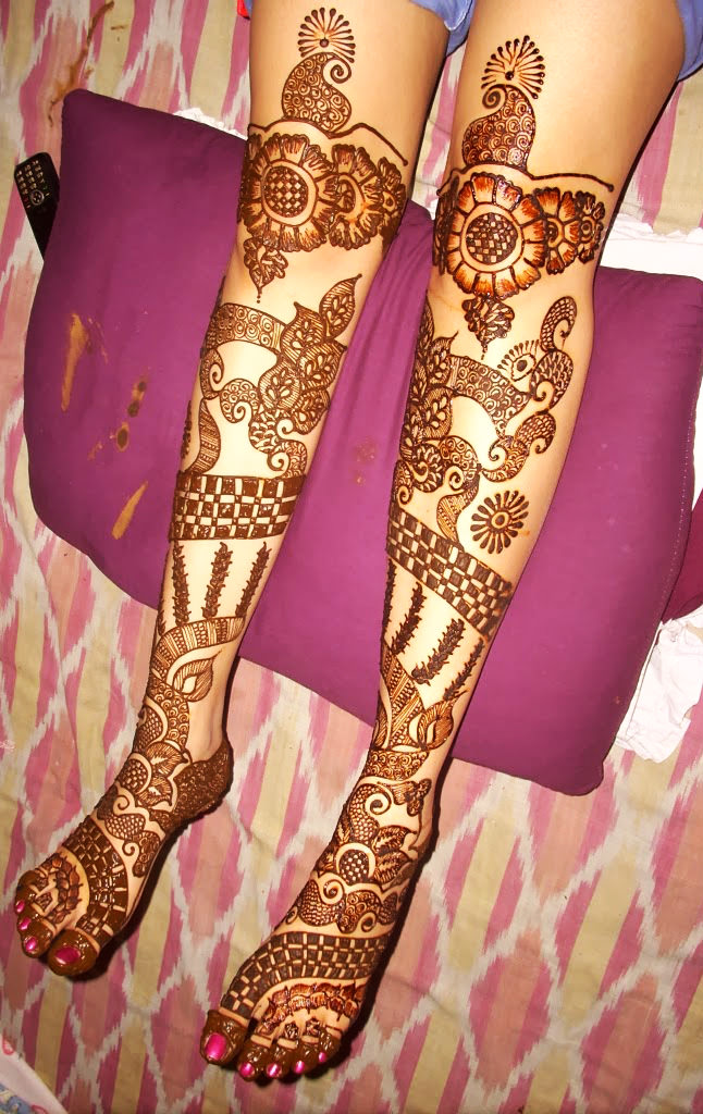 Bridal Mehndi Design For Full Legs