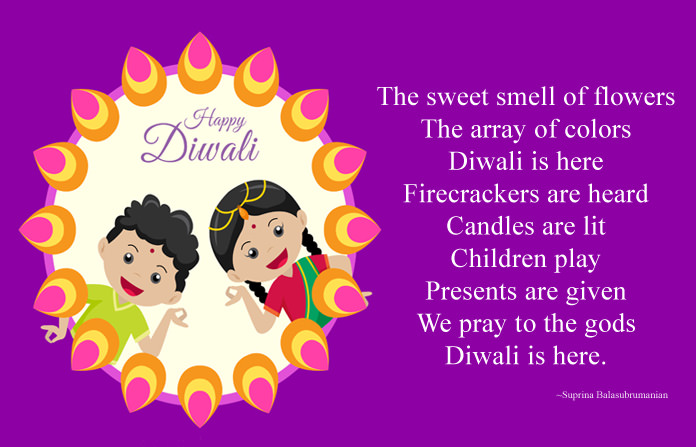 Happy Diwali Poems in English for Kids, Short Festival