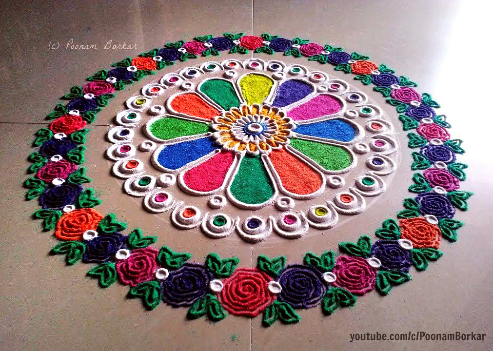 Rangoli Competition Image with Floral Theme