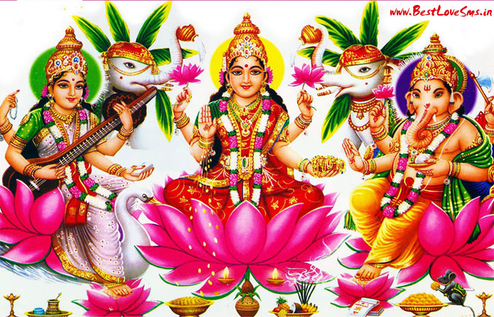 Saraswati Ji Laxmi Ji Ganesh Ji Wallpaper for Diwali