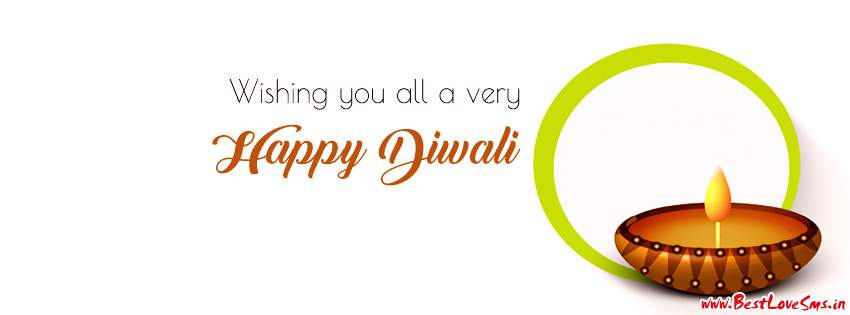 Simple beautiful facebook cover for diwali