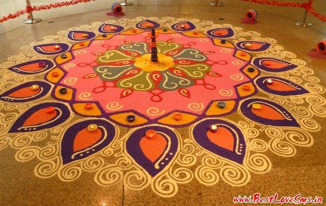 Traditional Rangoli Designs For Competition