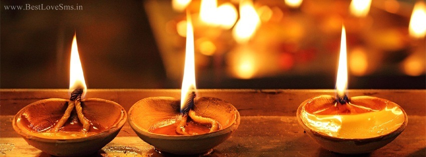 Diwali Facebook Cover with Diyas