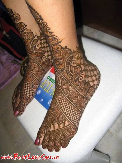 Bridal Mehndi for Legs
