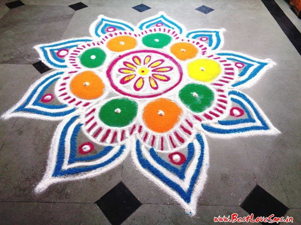 Beautiful Free Hand Rangoli Designs for Diwali