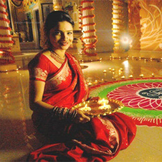 Diwali DP of Alone Girl