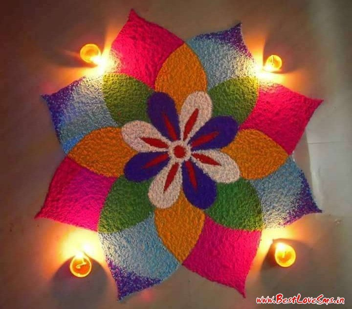 Ultimate Rangoli Designs For Diwali Festival 2017 With Flowers amp Diyas