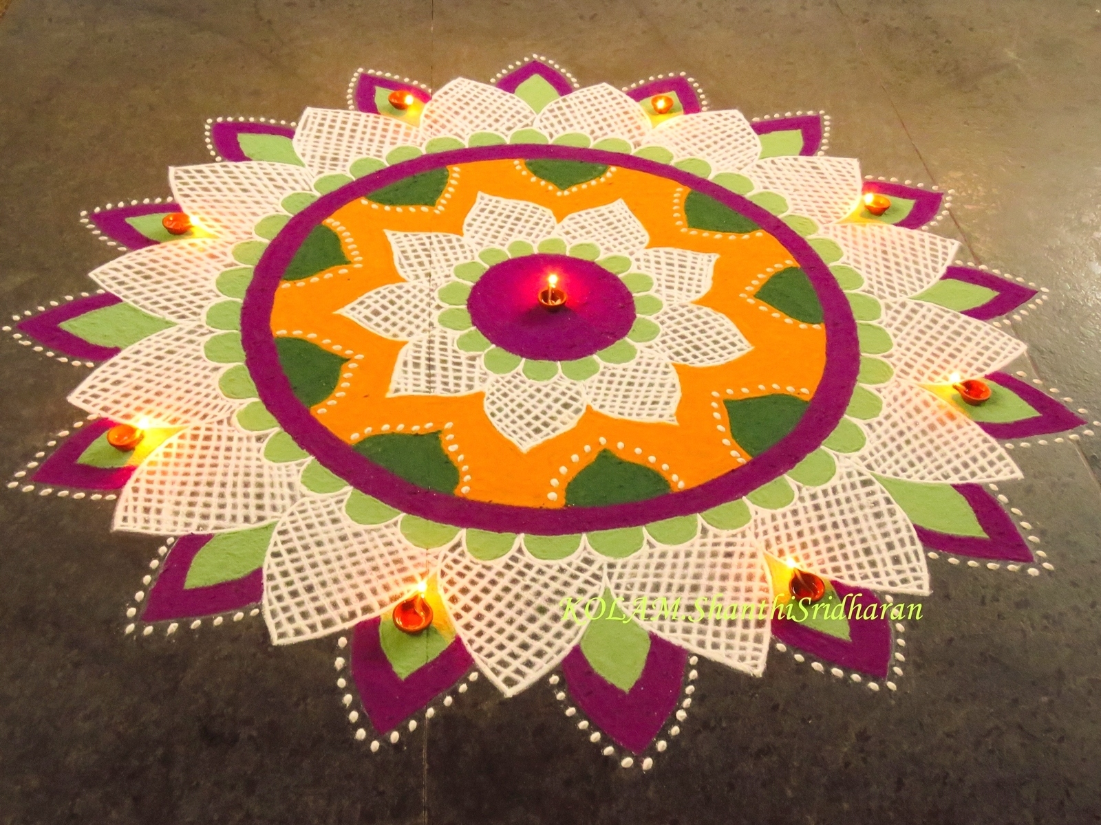 Easy Rangoli Designs For Competition