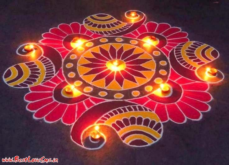 Floral Rangoli Image For Competition