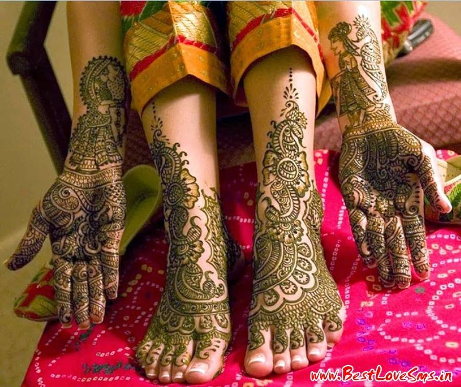 Marwari Bridal Mehndi Designs For Hands And Feet