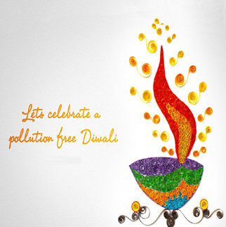 Diwali DP with Eco Friendly Quotations