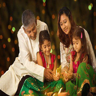 Diwali DP with Family Celebration