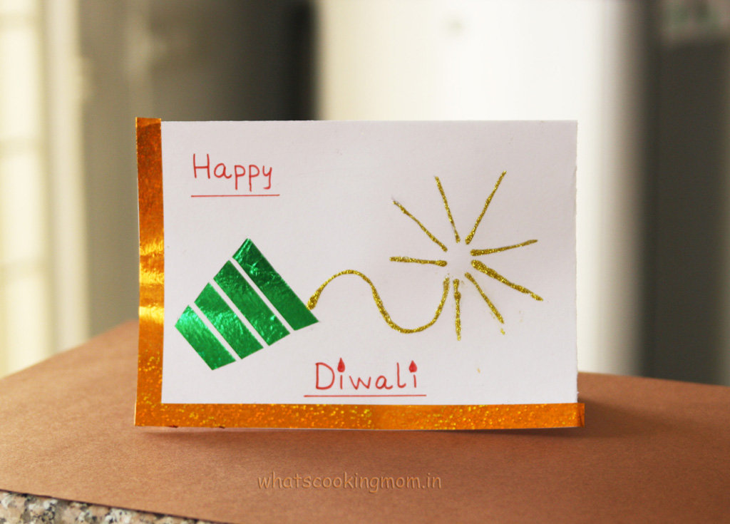 Diwali Homemade Greeting by a sweet child