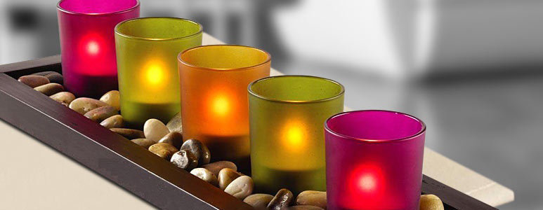 Artificial Diwali Candle's Images
