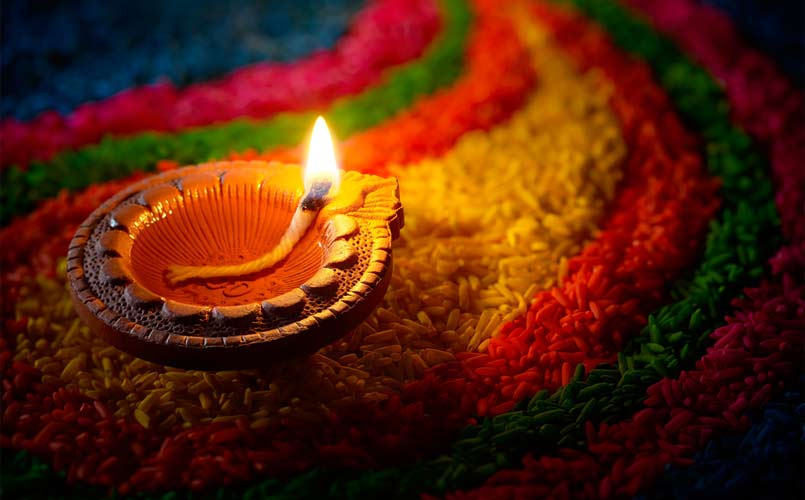 Diya with Multi Color