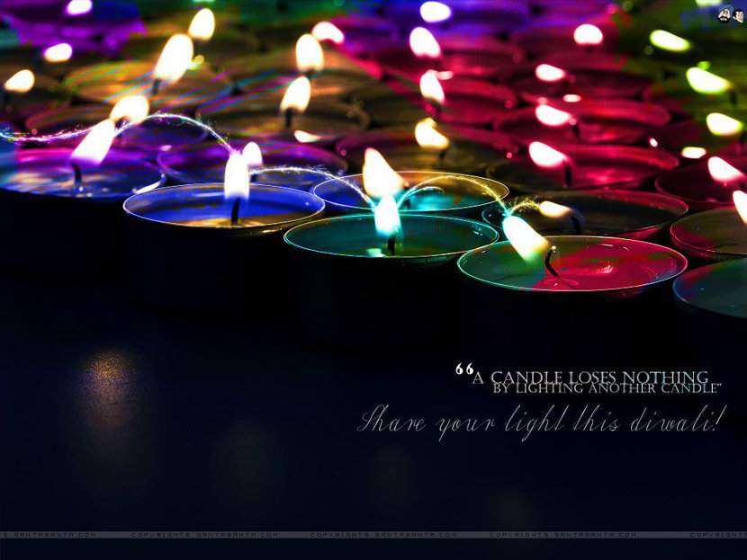 Beautiful Colorful Diya Wallpaper
