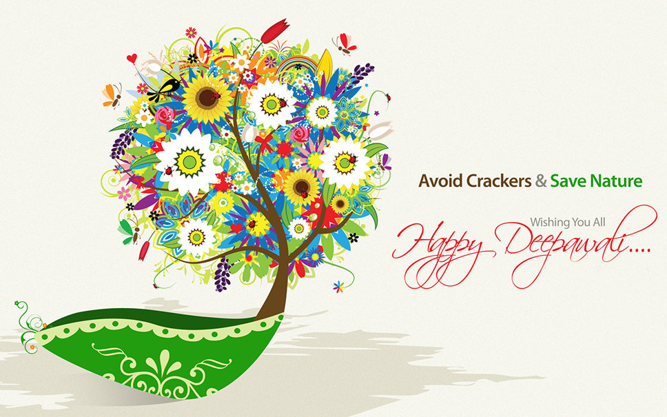Eco Friendly Diwali Wallpaper for Avoid Crackers