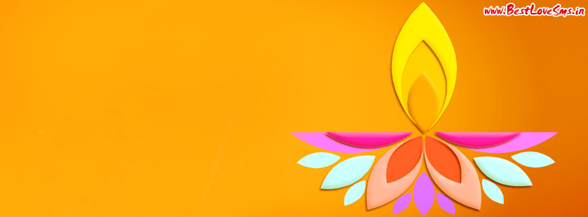 diwali hand made facebook profile cover pic image