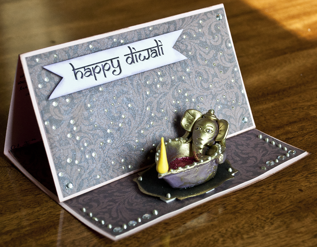 Handmade Diwali Greeting with Ganesh Ji