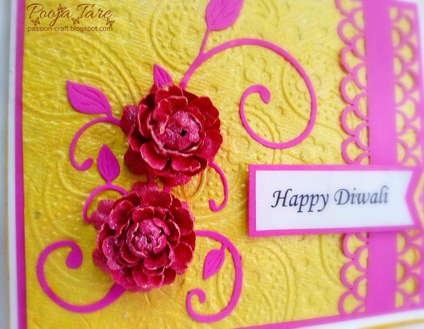 Deepavali Home Made Greeting Card from Kids