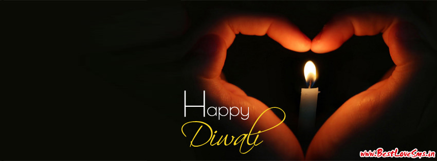 diwali heart cover pic for facebook