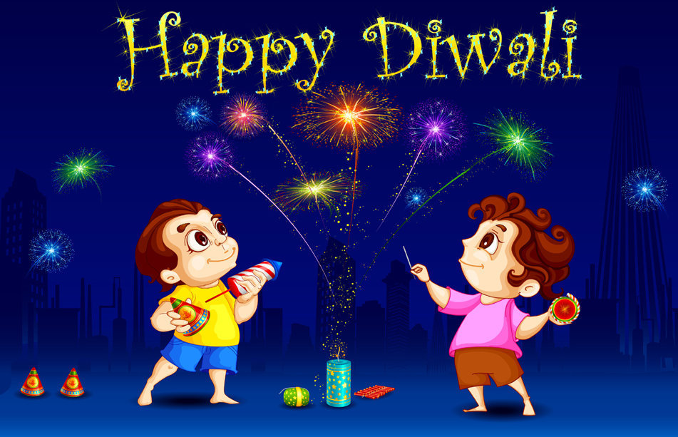 Funny Diwali Wallpaper for Kids