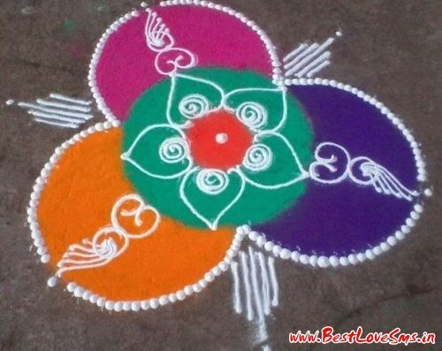 Easy Diwali Rangoli Design