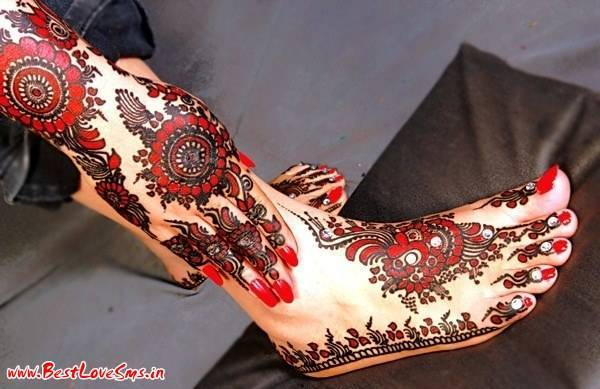 Black Henna Bridal Designs
