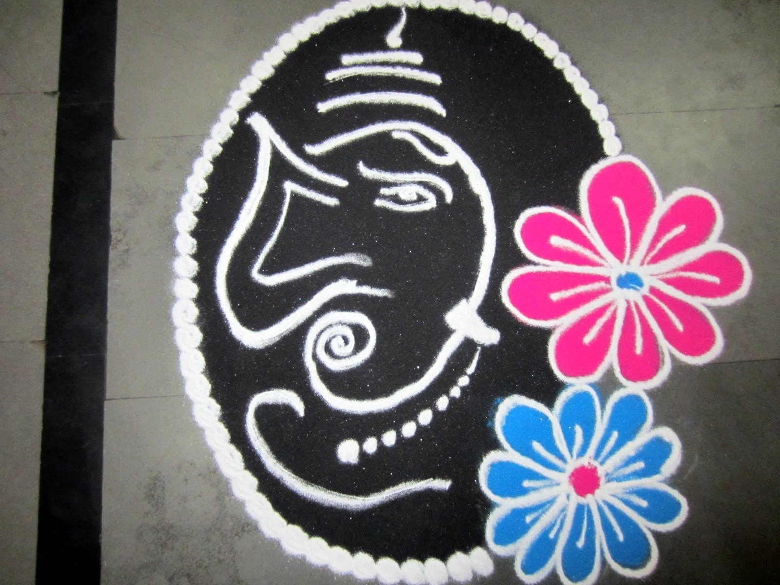 Ganesh Rangoli Pattern Easy to Make