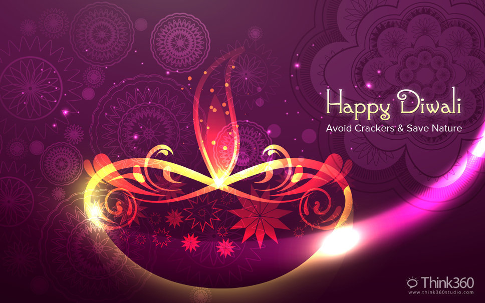 MultiColor Happy Diwali Wishes Greetings