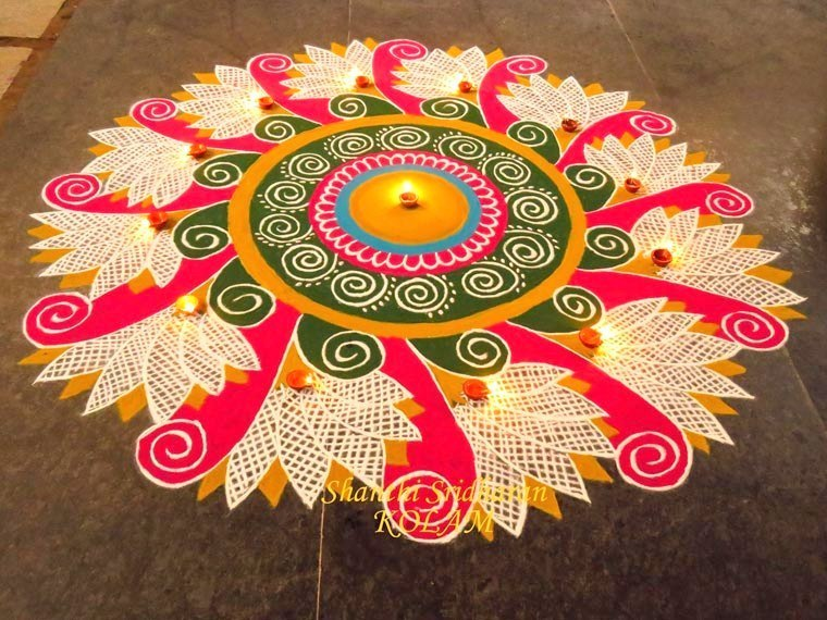 Award Winning Rangoli Designs