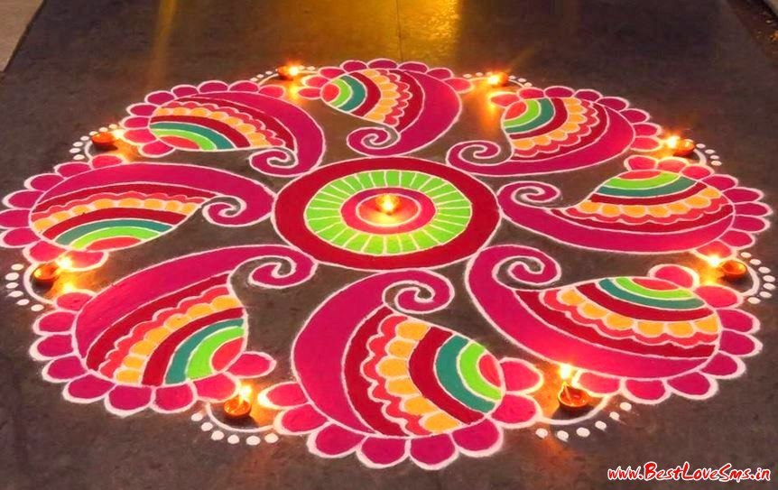 Prize Winning Rangoli Designs with Theme