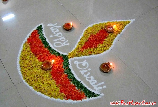 Simple Rangoli for Diwali