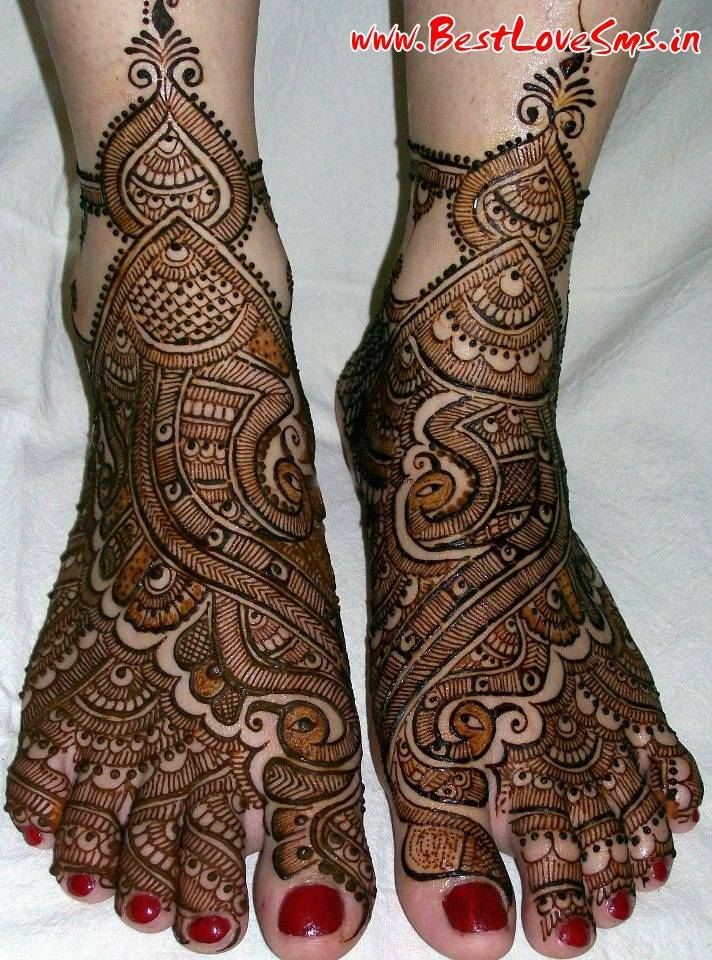 Beautiful Bridal Mehndi Designs For Legs  Stylish Dulhan Mehandi