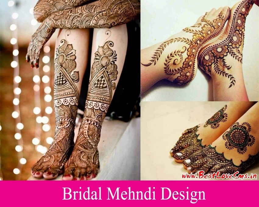 Mehndi Bridal Mehndi Design : Beautiful bridal mehndi designs for legs stylish dulhan mehandi