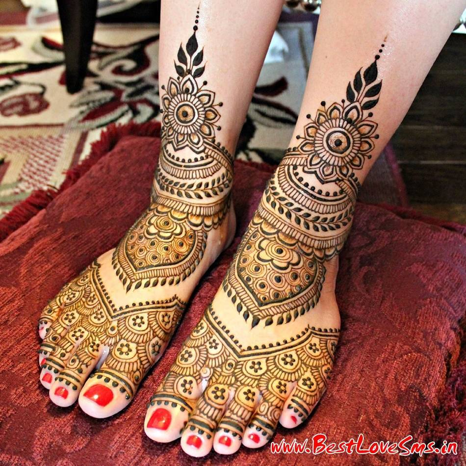 Leg Mehndi Designs Of Bridal : Beautiful bridal mehndi designs for legs stylish dulhan