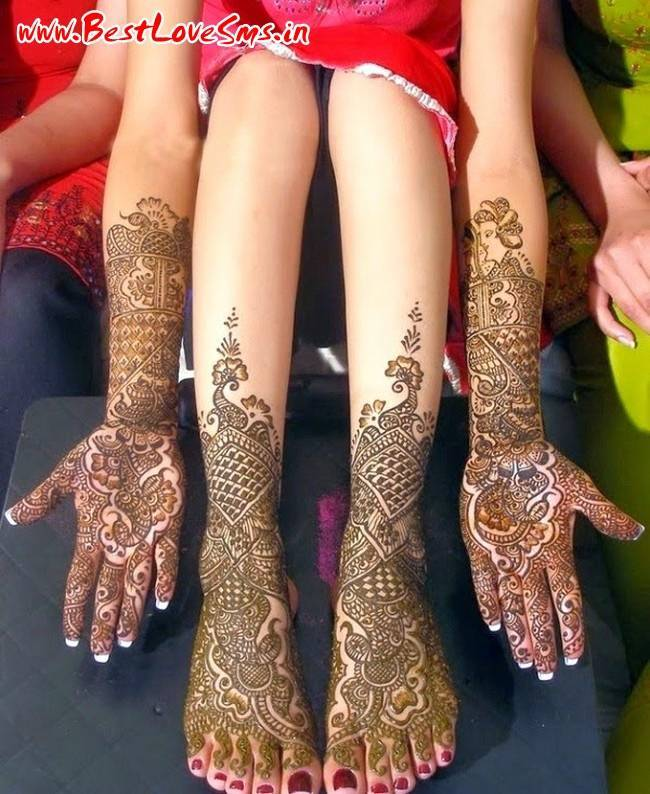 Rajasthani Design Of Bridal Mehndi