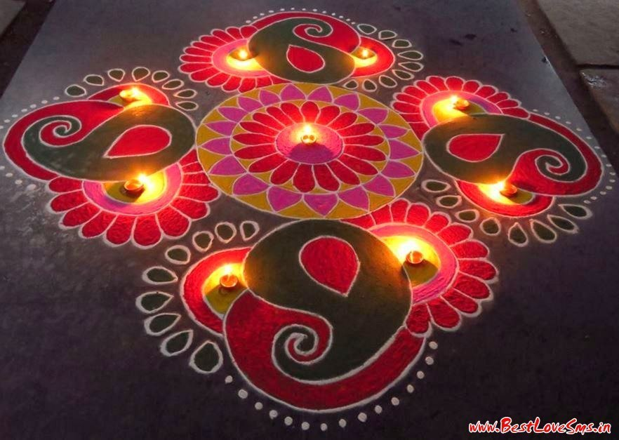 Flower Designs For Rangoli Competition