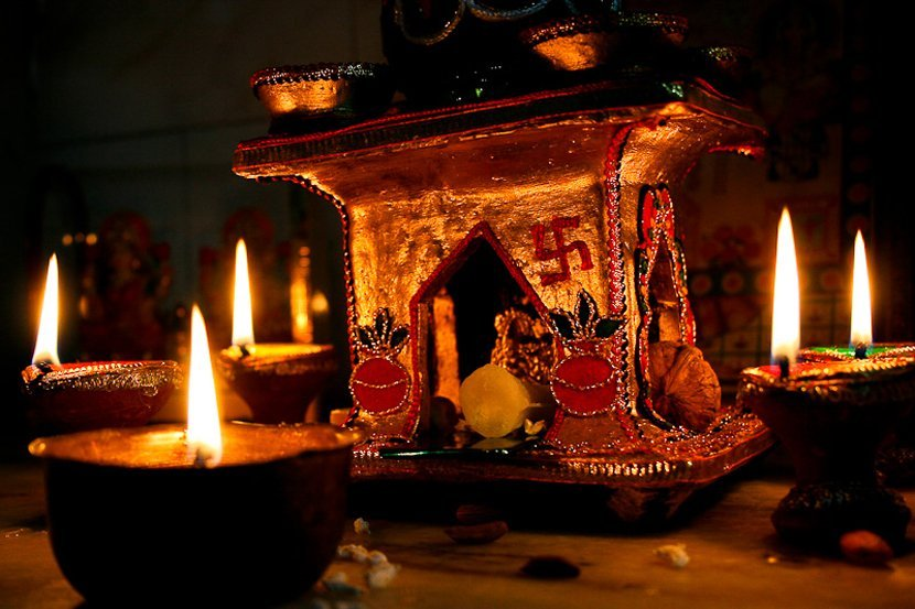 Traditional Diwali Images with Candle
