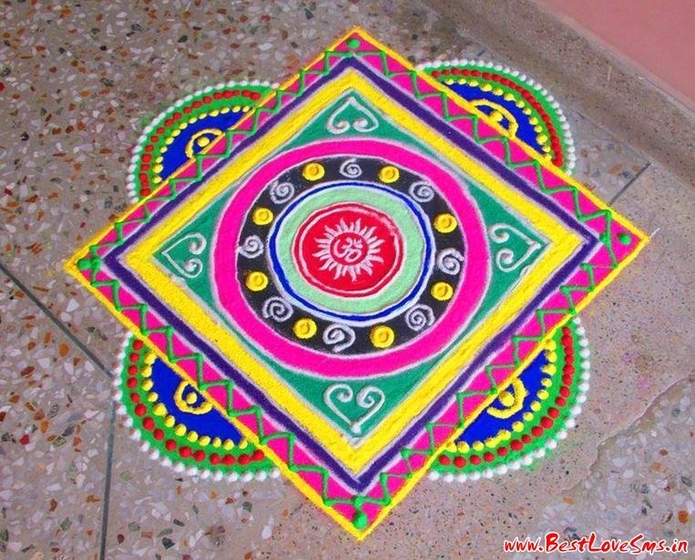 Indian festive season 2017 simple free hand rangoli for Home made rangoli designs