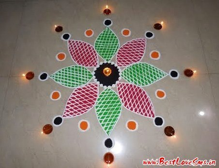 Stylish Diwali Rangoli