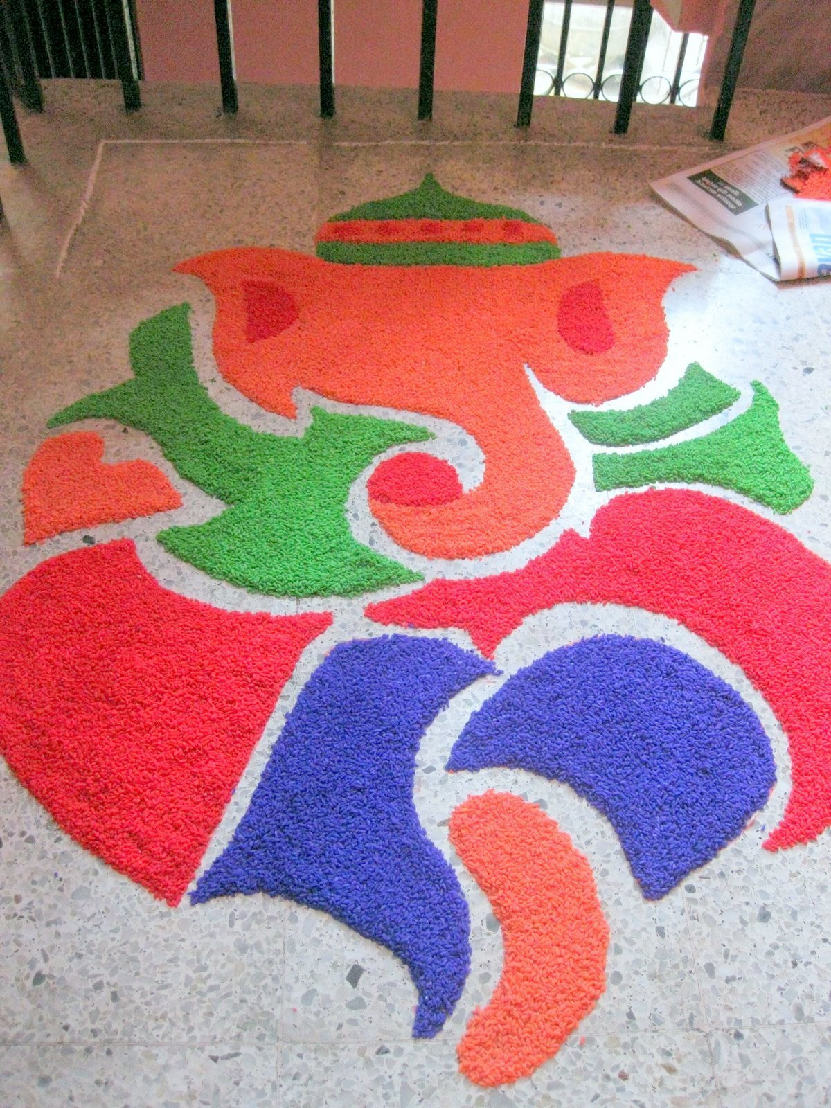 Rangoli Of Ganesh for Deepavali