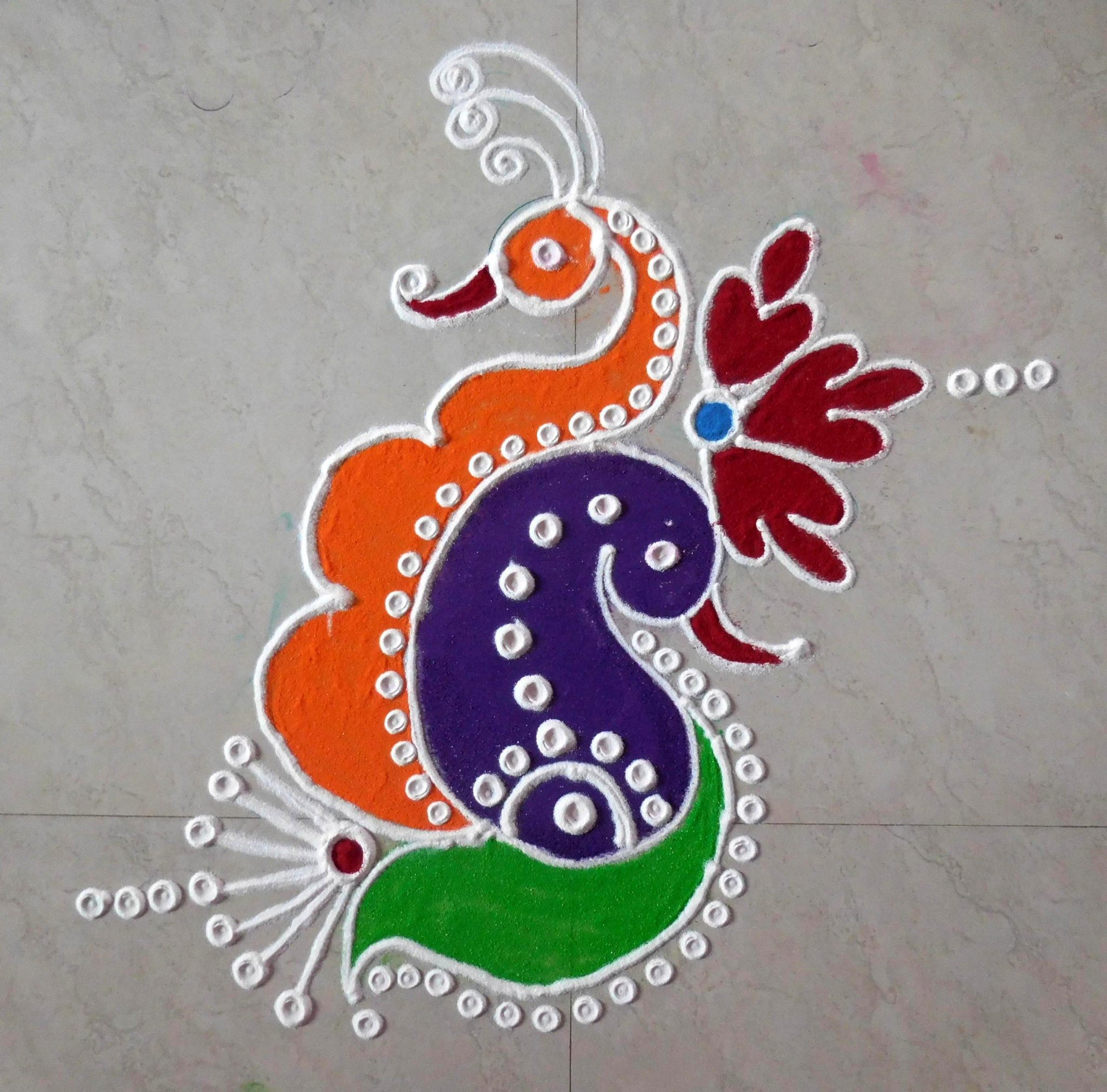 Peacock Images For Rangoli Easy to Make